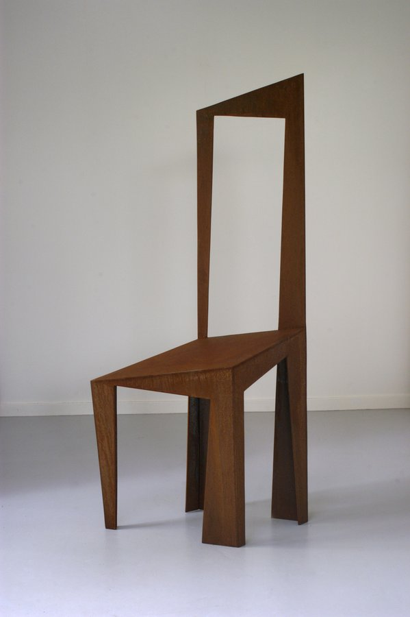 corten steel chair
